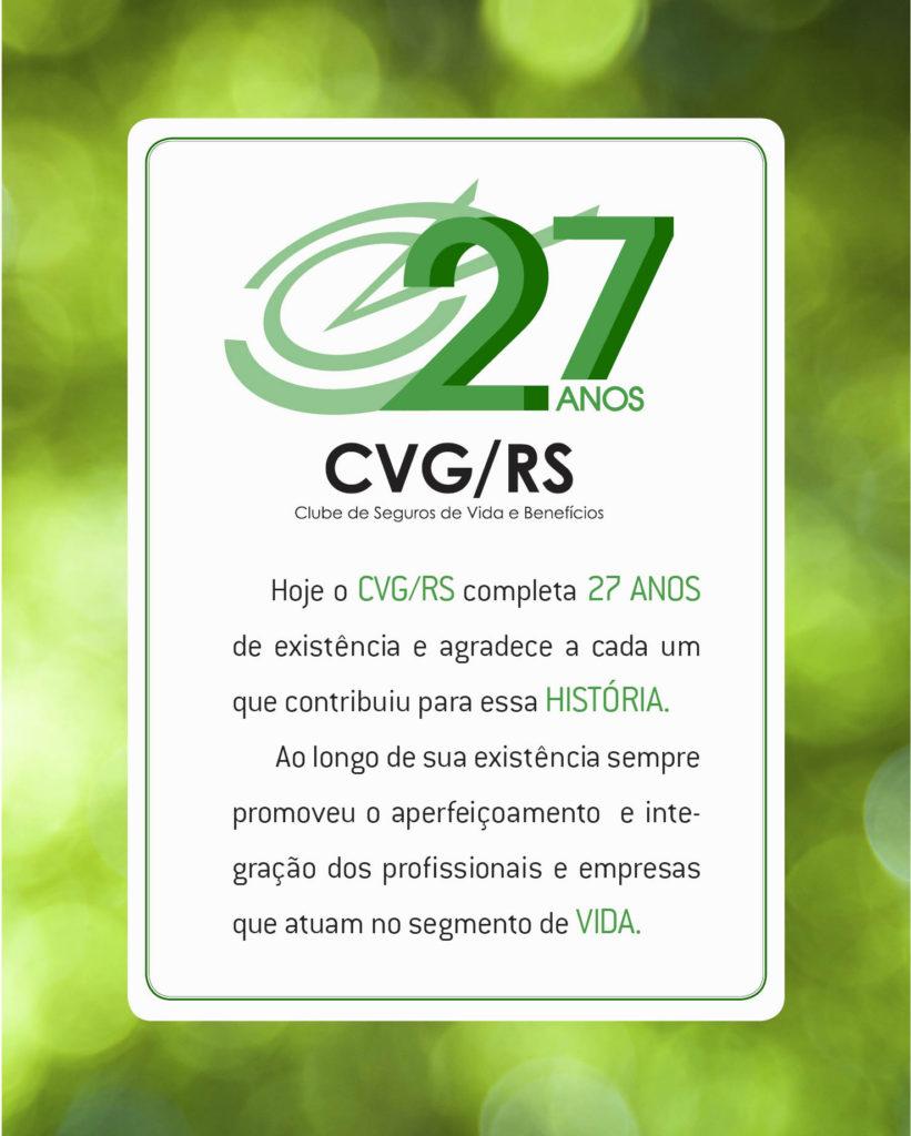 CVG/RS completa hoje 27 anos de existência